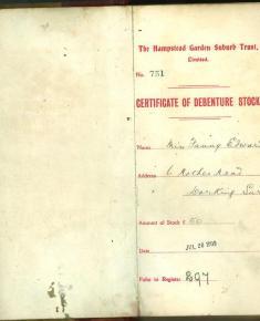 Certificate of Debanture Stock