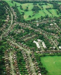 Aerial Photograph of Road surrounding Hampstead Golf Club